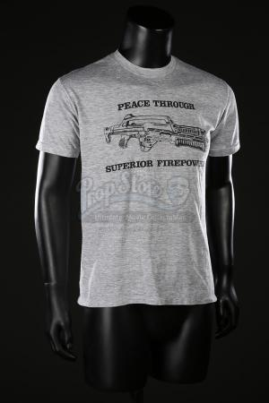 ALIENS (1986) - Frost's (Ricco Ross) Peace Through Superior Firepower T-Shirt