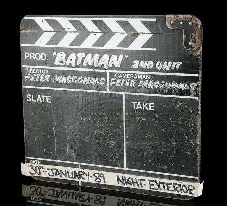 BATMAN (1989) - 2nd Unit Clapperboard
