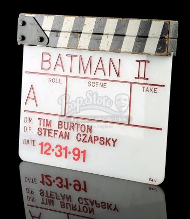 BATMAN RETURNS (1992) - 'A' Camera Clapperboard