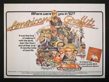 AMERICAN GRAFFITI (1973) - UK Quad Poster (1973)