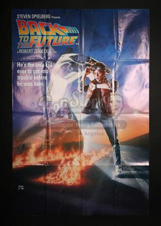 BACK TO THE FUTURE (1985) - UK Bus Stop Poster (1985)