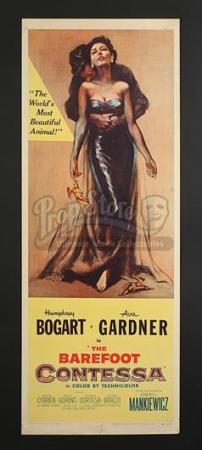 THE BAREFOOT CONTESSA (1954) - US Insert Poster (1954)