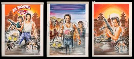 BIG TROUBLE IN LITTLE CHINA (1986) - Three Prototype Poster Artworks (1986)