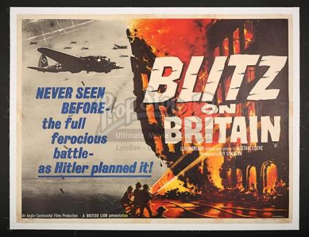 BLITZ ON BRITAIN (1960) - UK Quad Poster (1960)