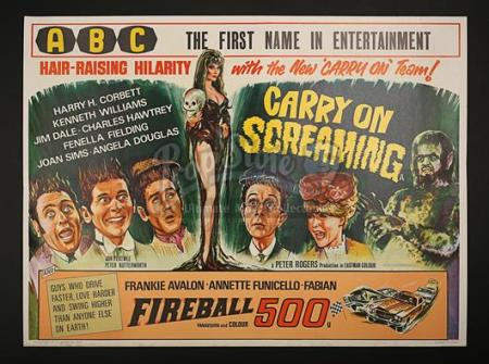 CARRY ON SCREAMING! (1966) - UK Quad Poster (1966)