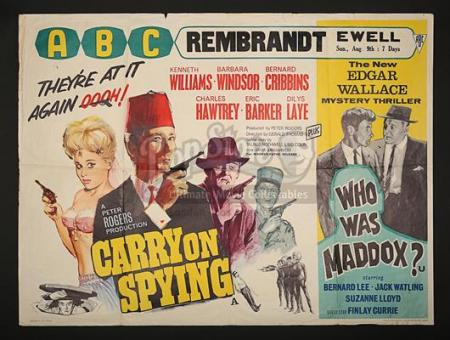 CARRY ON SPYING (1964) - UK Quad Poster (1964)
