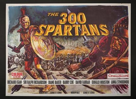 THE 300 SPARTANS (1962) - UK Quad Poster (1962)