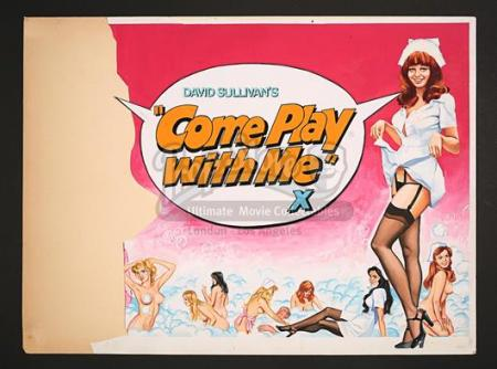 COME PLAY WITH ME (1977) - UK Quad Poster Artwork (1977)