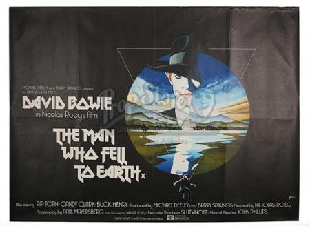 THE MAN WHO FELL TO EARTH (1976) - UK Quad Poster (1976)