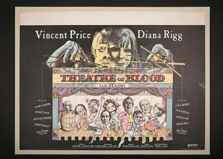 THEATRE OF BLOOD (1973) - UK Quad Poster (1973)