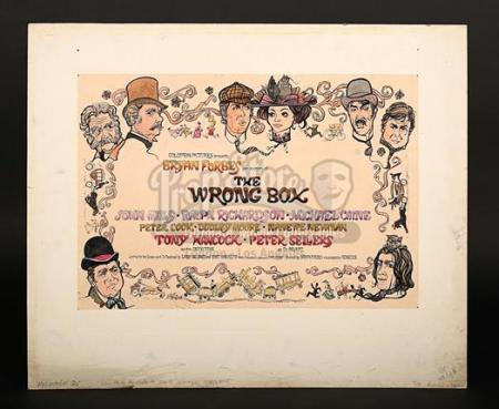 THE WRONG BOX (1966) - UK Quad Poster Artwork (1966)
