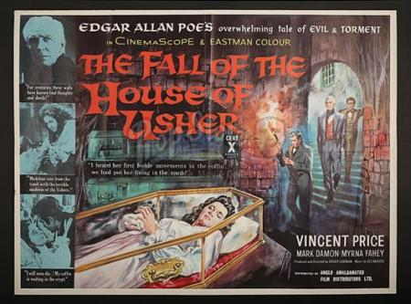THE FALL OF THE HOUSE OF USHER (1960) - UK Quad Poster (1960)