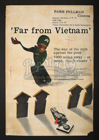 FAR FROM VIETNAM (1967) - UK Paris Pullman Poster (1967)
