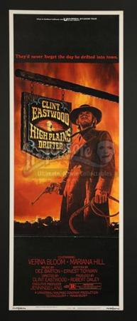 HIGH PLAINS DRIFTER (1973) - US Insert Poster (1973)