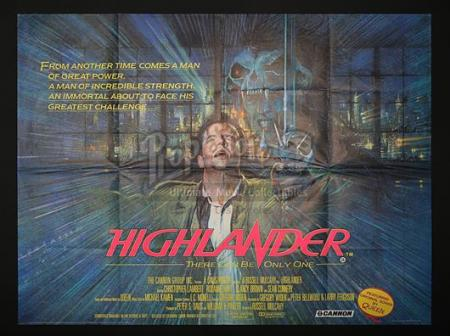 HIGHLANDER (1986) - UK Quad Poster (1986)
