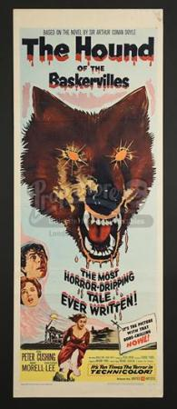 THE HOUND OF THE BASKERVILLES (1959) - US Insert Poster (1959)