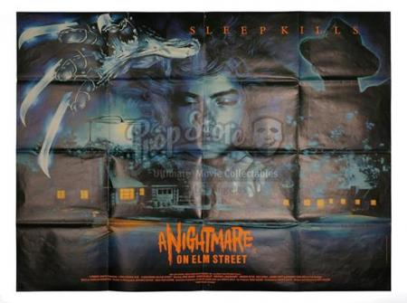 NIGHTMARE ON ELM STREET (1984) - UK Quad Cinema Poster (1984)