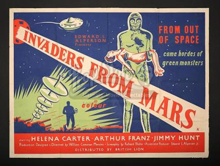 INVADERS FROM MARS (1953) - UK Quad Poster (1954)