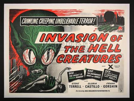"INVASION OF THE HELL CREATURES (AKA. ""INVASION OF THE SAUCER MEN"") (1957) - UK Quad Poster (1957)"