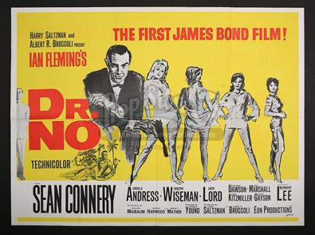 JAMES BOND: DR. NO (1962) - UK Quad Poster (1967)