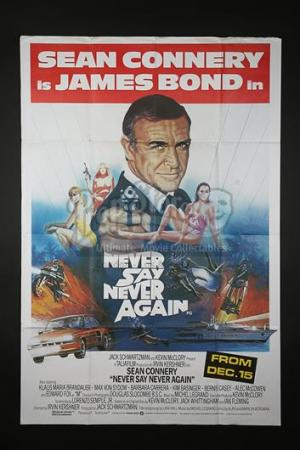 JAMES BOND: NEVER SAY NEVER AGAIN (1983) - UK Bus Stop Poster (1983)