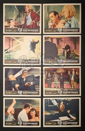 JAMES BOND: GOLDFINGER (1964) - Set of Eight US Lobby Cards (1964)