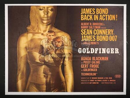JAMES BOND: GOLDFINGER (1964) - UK Quad Poster (1964)