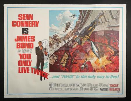 JAMES BOND: YOU ONLY LIVE TWICE (1967) - US Subway Poster (1967)