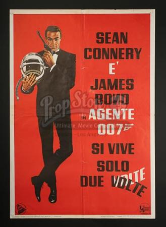 JAMES BOND: YOU ONLY LIVE TWICE (1967) - You Only Live Twice Italian Foglio Poster (1967)