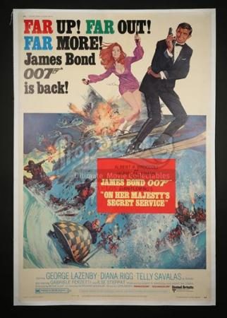 JAMES BOND: ON HER MAJESTY'S SECRET SERVICE (1969) - US 40x60 Poster (1970)