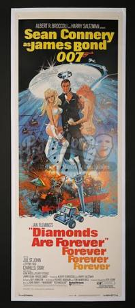 JAMES BOND: DIAMONDS ARE FOREVER (1971) - US Insert Poster (1971)