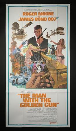 JAMES BOND: THE MAN WITH THE GOLDEN GUN (1974) - US 3-Sheet Poster (1974)