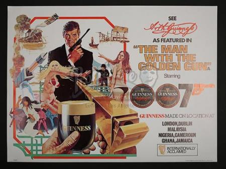 JAMES BOND: THE MAN WITH THE GOLDEN GUN (1974) - UK Guinness Poster (1974)