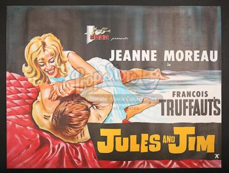 JULES AND JIM (1962) - UK Quad Poster (1962)