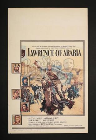 LAWRENCE OF ARABIA (1962) - US Window Card (1962)