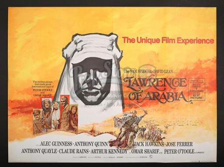LAWRENCE OF ARABIA (1962) - UK Quad Poster (1969)