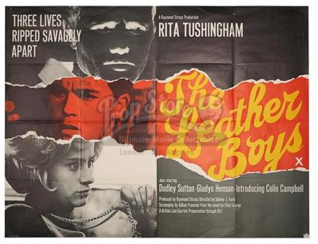 THE LEATHER BOYS (1964) - UK Quad Poster (1964)