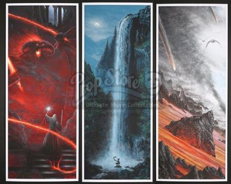 THE LORD OF THE RINGS TRILOGY (2001-2003) - Mondo Print Set (2012)