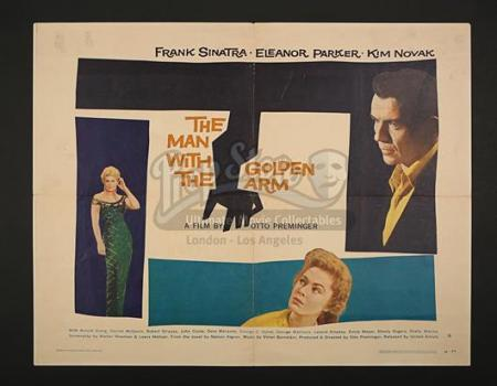 THE MAN WITH THE GOLDEN ARM (1955) - US 1/2-Sheet Poster (1956)