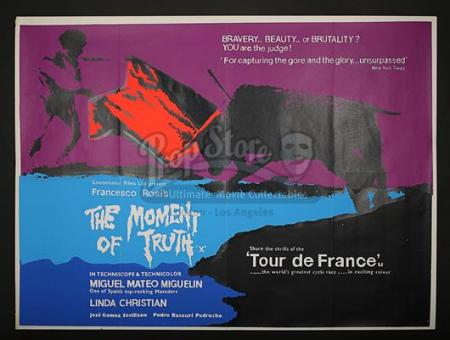 THE MOMENT OF TRUTH (1965) - UK Quad Poster (1965)