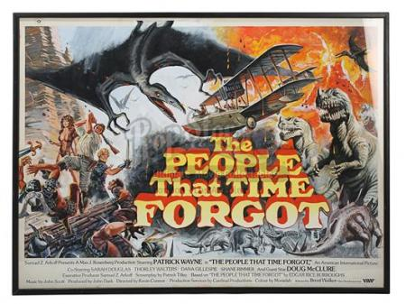 THE PEOPLE THAT TIME FORGOT (1977) - UK Quad Poster Artwork (1977)
