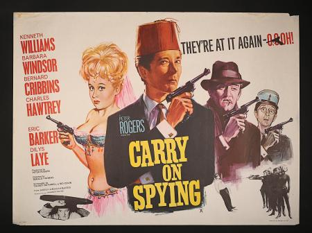 CARRY ON SPYING (1964) - UK Quad Poster