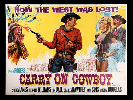 CARRY ON COWBOY (1965) - UK Quad Poster
