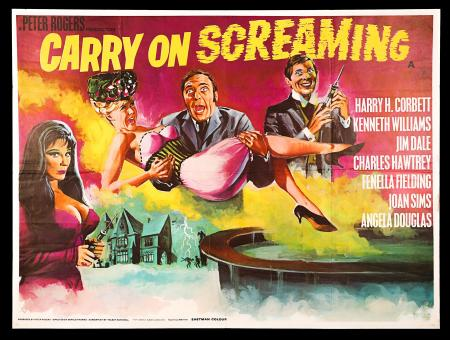 CARRY ON SCREAMING (1966) - UK Quad Poster