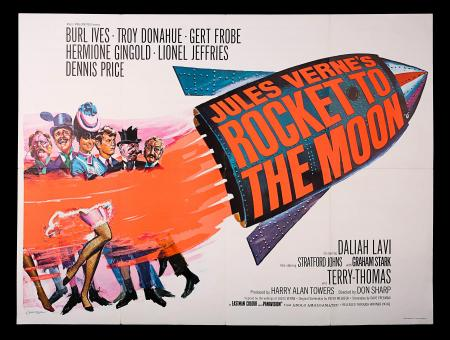 JULES VERNE'S ROCKET TO THE MOON (1967) - UK Quad Poster