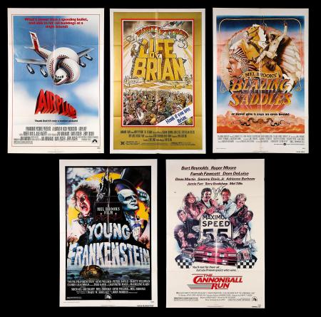 VARIOUS PRODUCTIONS (1974-81) - Five US One-Sheet Posters