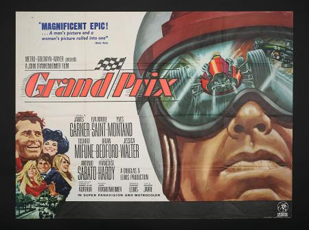 GRAND PRIX (1966) - UK Quad Poster