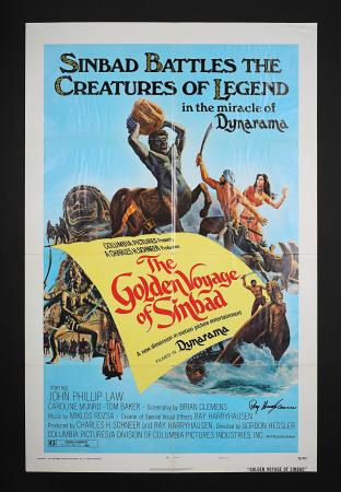 THE GOLDEN VOYAGE OF SINBAD (1973) - Autographed US One-Sheet Style-A Poster