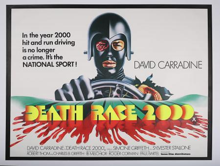 DEATH RACE 2000 (1975) - UK Quad Poster