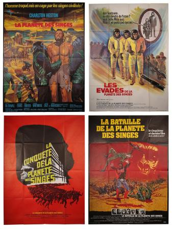 PLANET OF THE APES (1968-1972) - Four French Grand Affiches